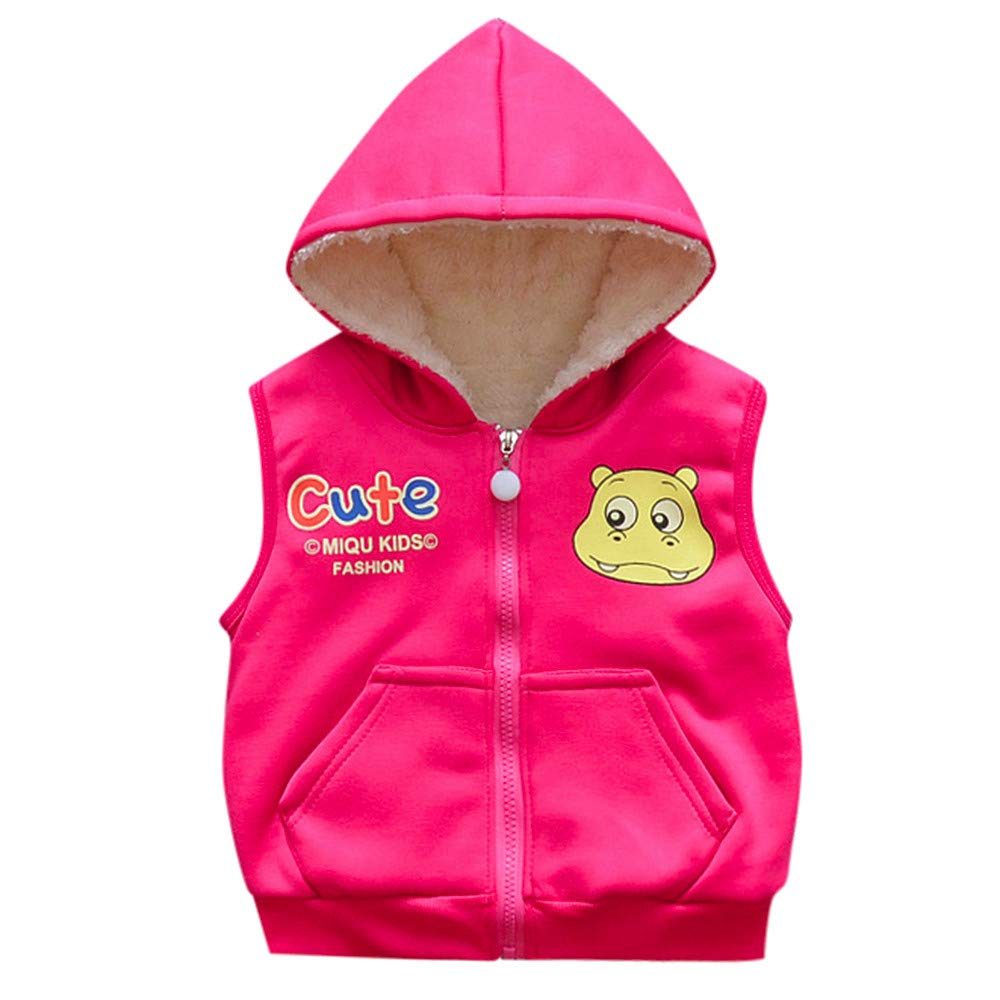cecd104f2 Amazon.com: Winter Baby Coat,Fineser Cute Kid Infant Toddler Baby Cartoon  Hippo Hooded Jackets Warm Vest Waistcoat Clothes 4 Colors: Clothing