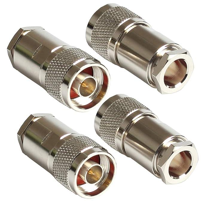 N Conectores Macho RF Conector Coaxial para LMR400 Cable ...