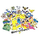 Vanka 150PCS Cool Vinyls POKEMON Stickers & Extras Graffiti Stickers to Personalize Laptops, Skateboards, Luggage, Cars, Bumpers, Bikes, Bicycles (Pack of 150 Finest Quality)
