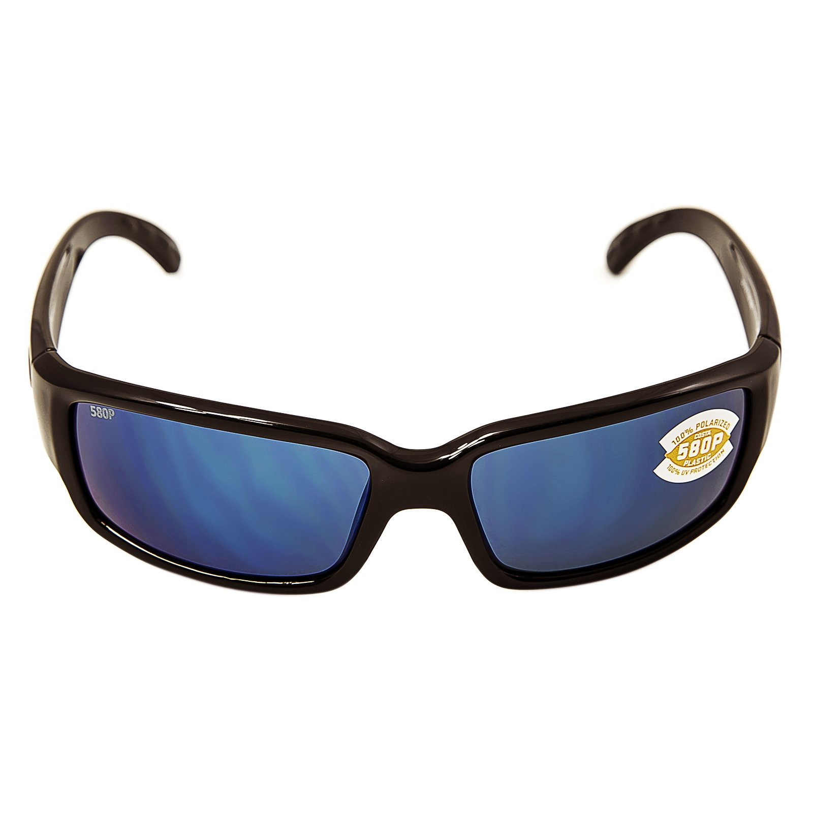 Costa del Mar Cabalitto Polarized Iridium Wrap Sunglasses, Black, 59.2 mm
