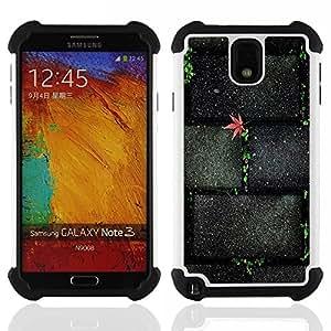 BullDog Case - FOR/Samsung Galaxy Note3 N9000 N9008V N9009 / - / Stone Brick Wall Street Texture /- H??brido Heavy Duty caja del tel??fono protector din??mico - silicona suave
