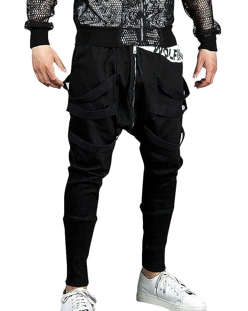 Uomo Pantaloni da Jogging Sportivi Casual Sarouel Danza Pantaloni