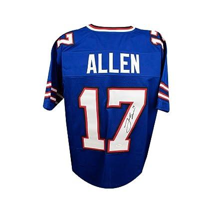 on sale 4667d f321a Josh Allen Autographed Buffalo Bills Custom Blue Football ...