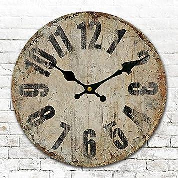 Runde Runde Amerikanischen Antike Uhren Digitale Wand Uhr Digitaluhr Retro  Wohnzimmer Schlafzimmer Uhr Durchmesser 34/