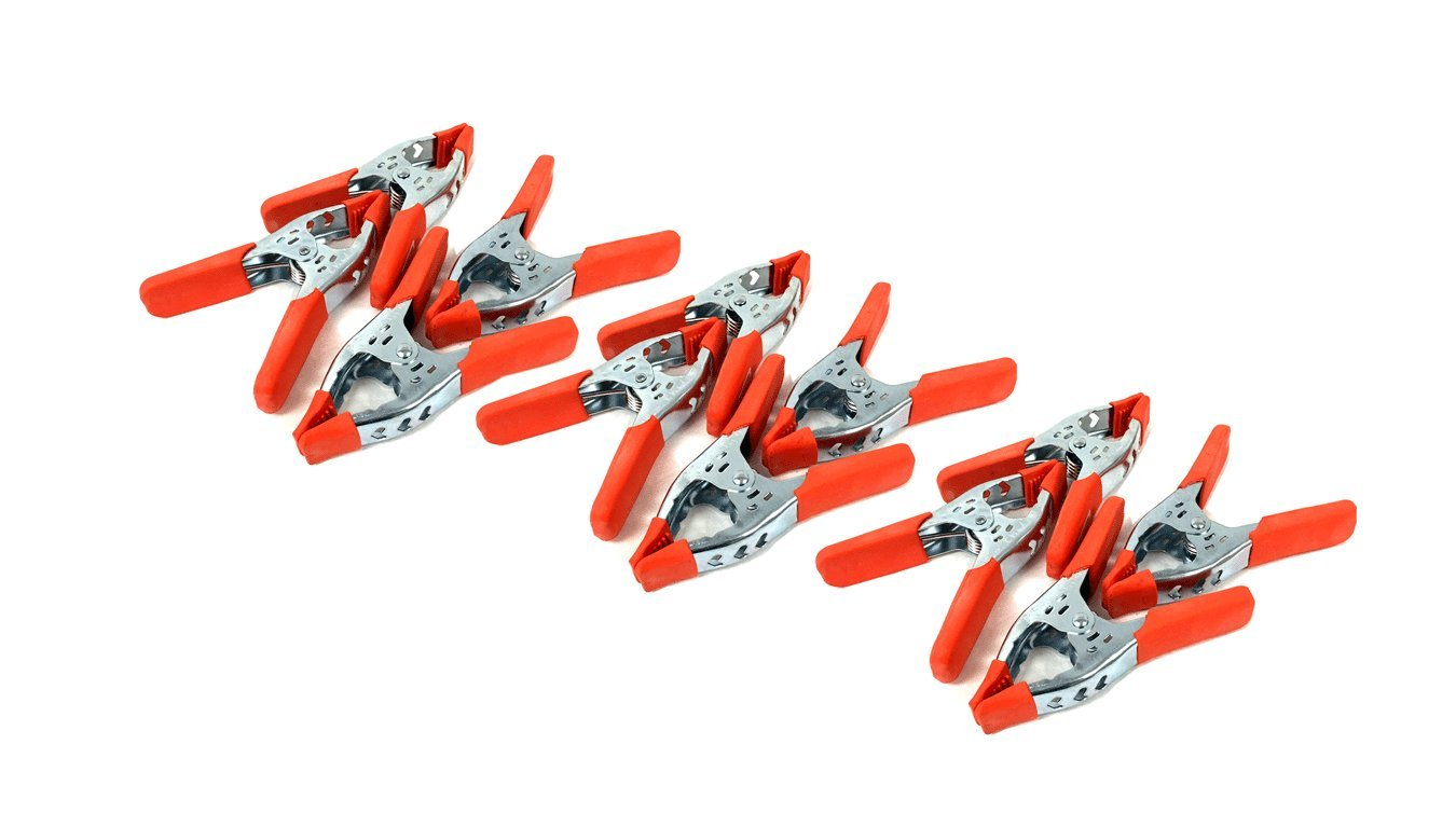 6'' inches Clamp Heavy Duty Spring Metal Clamps - Large 3 inch Jaw (12PC)