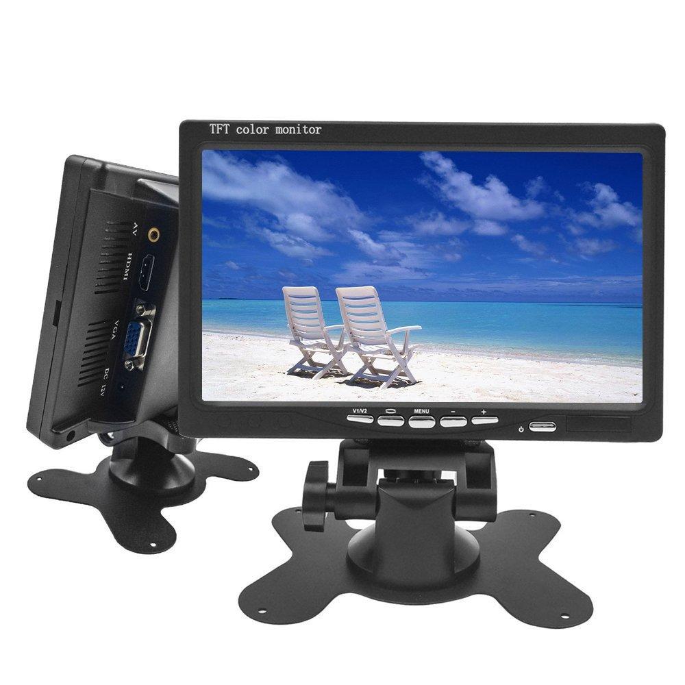 Camecho Mini ordinateur et é cran de té lé vision Moniteur LCD HD 7 pouces Camé ra Surveillance Camé ra Prise en charge HDMI ou VGA / Vidé o / Audio avec prise icamecho K0106A1