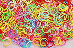 Yagopet 500pcs/pack New Puppy Dog Hair Rubber Bands Multi Colors Top Quality Elastics 1/2\