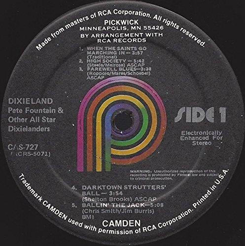 Pete Fountain ~ Dixieland Live LP by RCA Camden