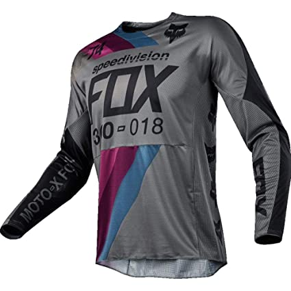 2018 Fox 360 Redactor Jersey Gris MX Motocross Off-Road ...