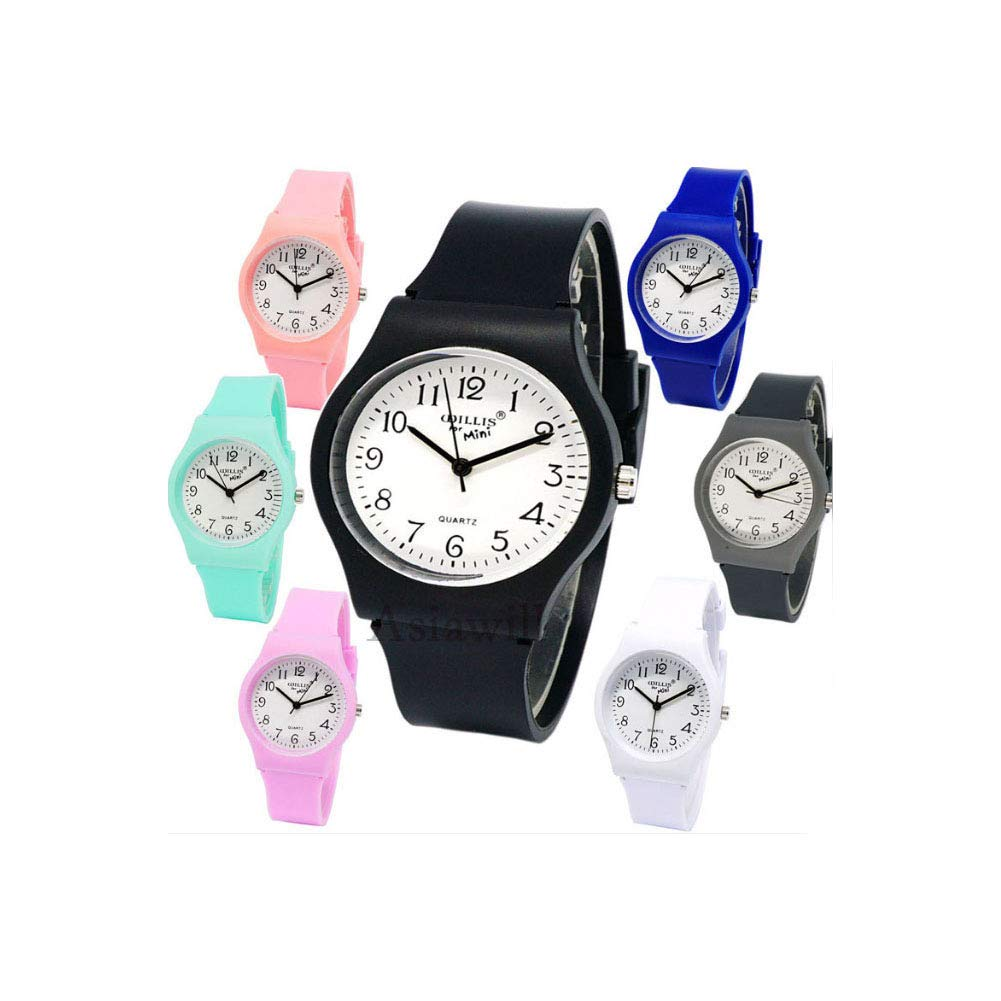 Asiawill 7 Pack Unisex Watches Students Children Watches Analog Quartz Wrist Watch by Asiawill