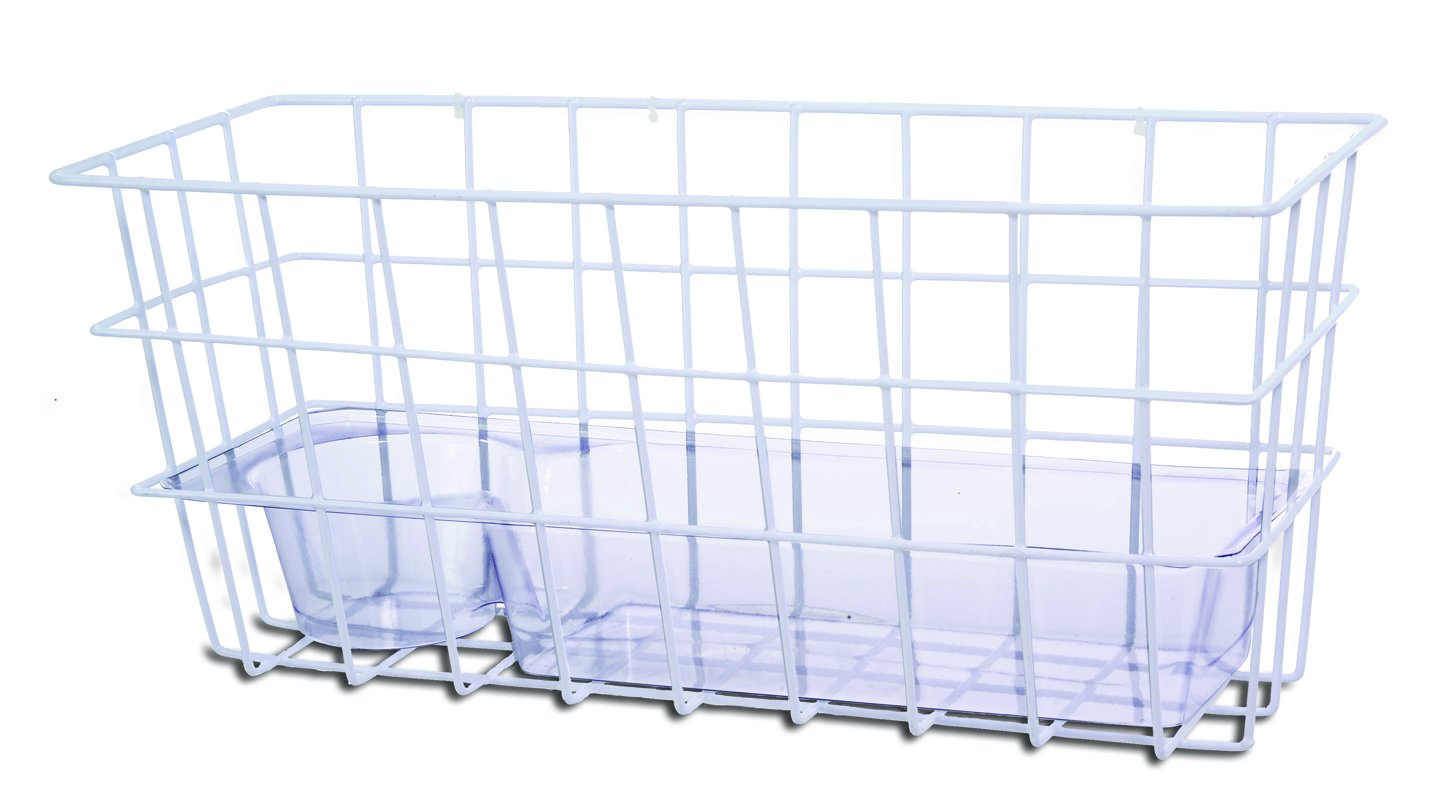 Essential Medical Supply Wire Basket for Folding Walkers with Hook and Loop Attachment
