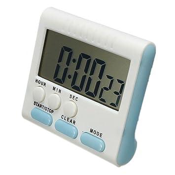 REFURBISHHOUSE Temporizador Digital/Temporizador de Cocina con Alarma Audible, Funcion de Arriba y Abajo, Soporte magnetico, Azul