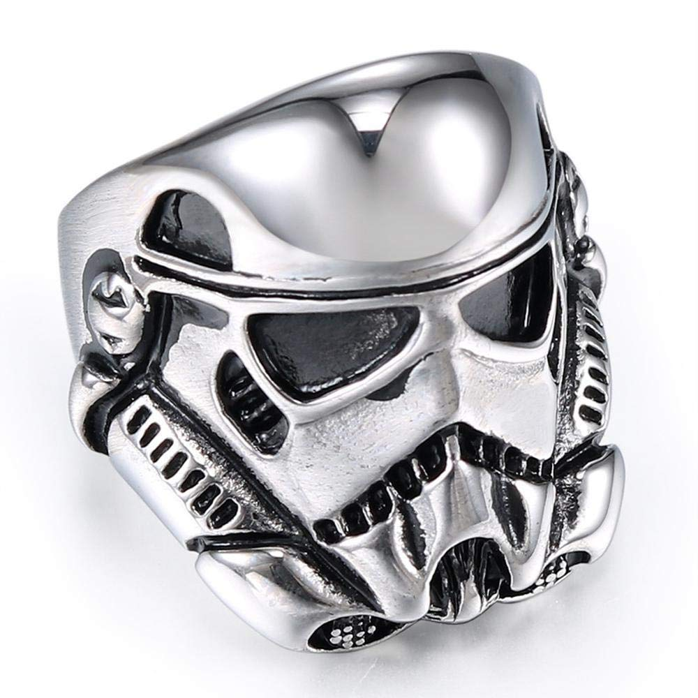 Dixinla Rings Steel , European and American Personality Fashion Men's Storm White Soldier Titanium Steel Ring Jewelry Gift for Family or Friends by Dixinla