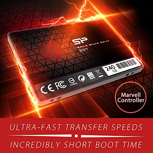 Silicon Power/Marvell Controller 240GB S57 (SLC Cache Boost with Read up to 500 MB/s) SATA III Internal Solid State Drive- Free-download SSD Health Monitor Tool Included by Silicon Power (Image #2)