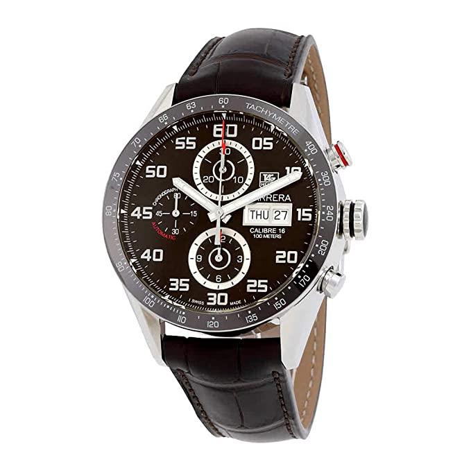 Tag Heuer Carrera 43mm Chrono Day Date Automatic Mens Watch CV2A1S.FC6236