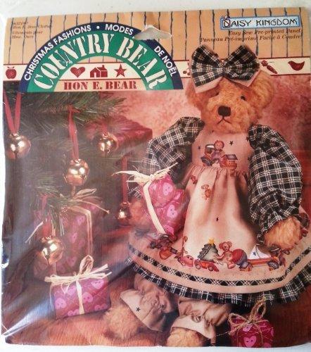 Daisy Kingdom Country Bear Hon E. Bear Easy Sew Pre-printed Panel (Daisy Kingdom Doll)