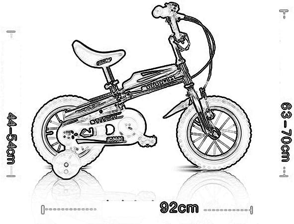 LVZAIXI Las Bicicletas para niños Vienen en Dos Colores: tamaño 12 ...