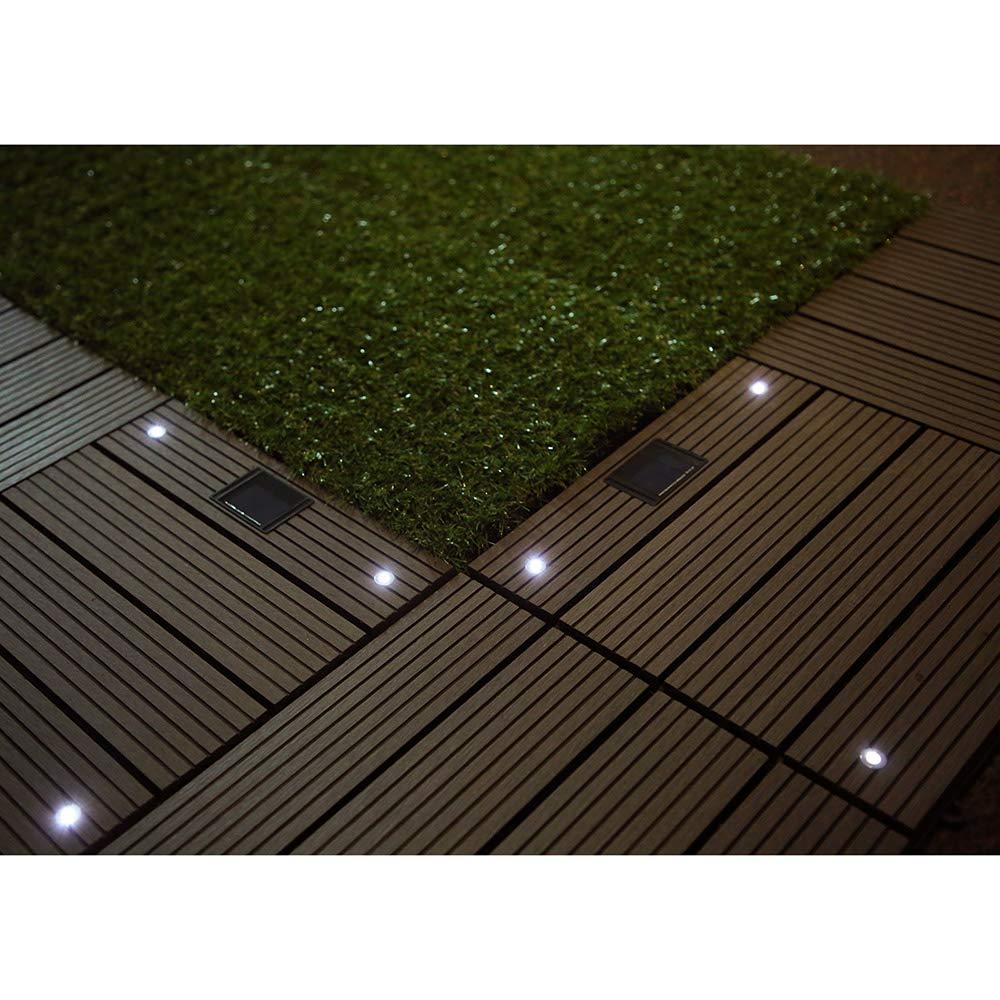 Anthrazit LED Einzelfliese Home Deluxe WPC Holzfliese mit solarbetriebenen LEDs 4 verschiedene Farben und ausf/ührungen