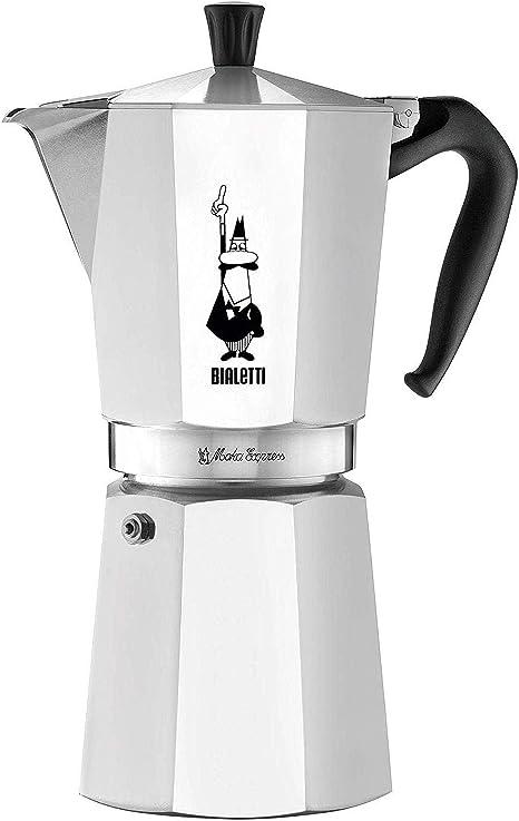 Bialetti Moka Express, cafetera de Aluminio 12 Tazas: Amazon.es ...
