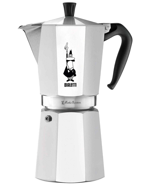 Bialetti Moka Express, cafetera de Aluminio 12 Tazas: Amazon ...
