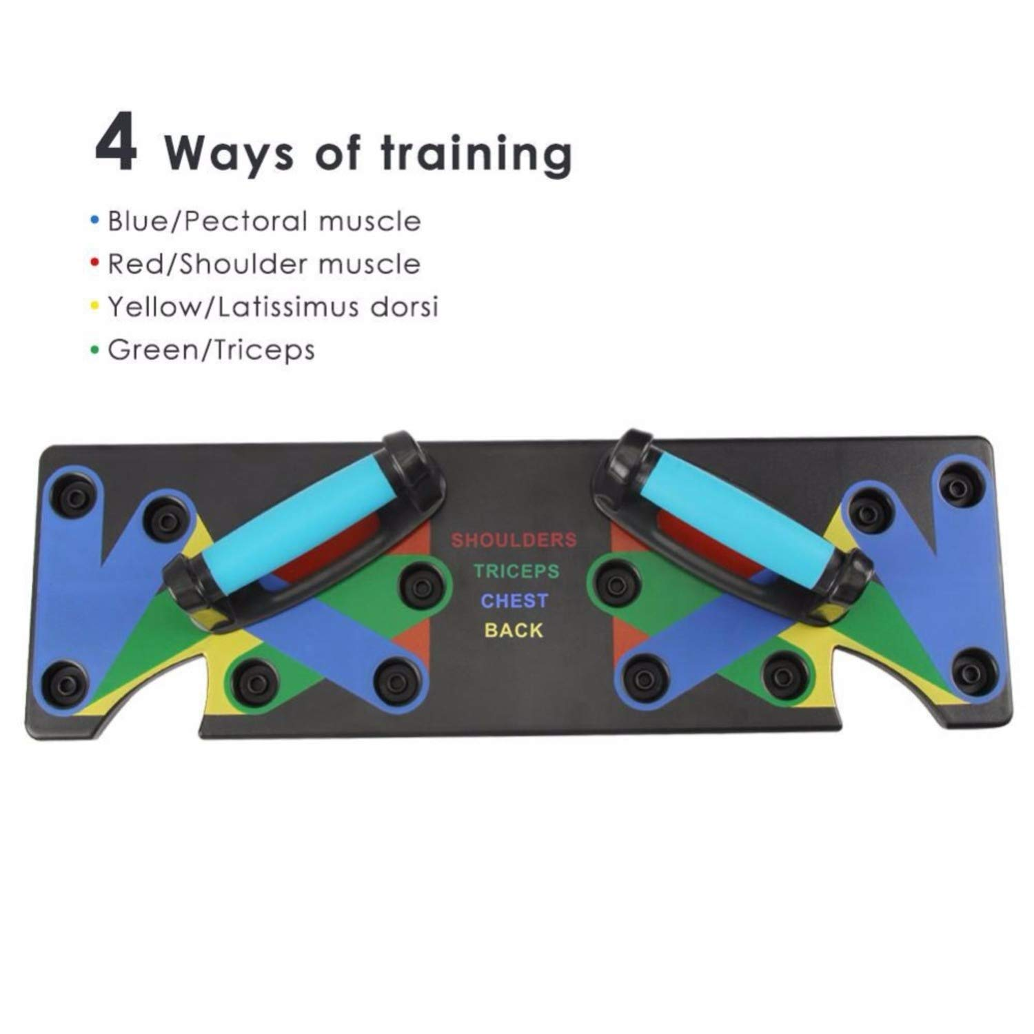 Ohyoulive The Ultra Push 9 In 1 System Multi-Function Push-Up Bracket Board Portable For Home Fitness Training Support Male Fitness Equipment Practice Chest Muscle Arm Muscle Latitudinal Muscle Type