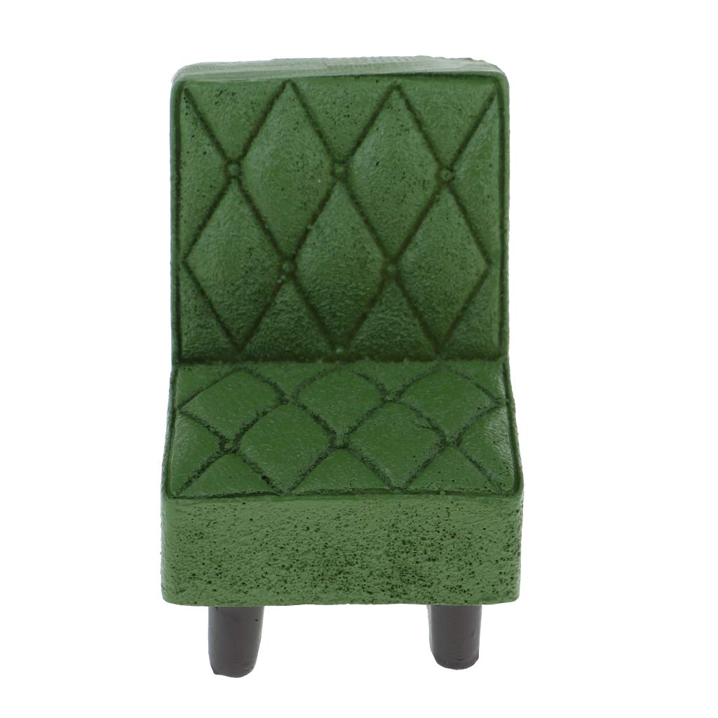 D DOLITY Fashion Individual Sill/ón de Sof/á Muebles de Adornos para Casa de Mu/ñecas a Escala 1//12 Verde