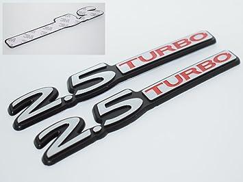 2.5 Turbo 2500 cc Cromo insignia emblema Logo Guardabarros Cromado 3d coche Auto Swap tronco campana