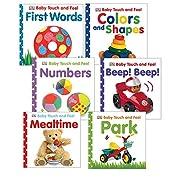 Becker's School Supplies Baby Touch & Feel Board Book Set, (Set of 6)