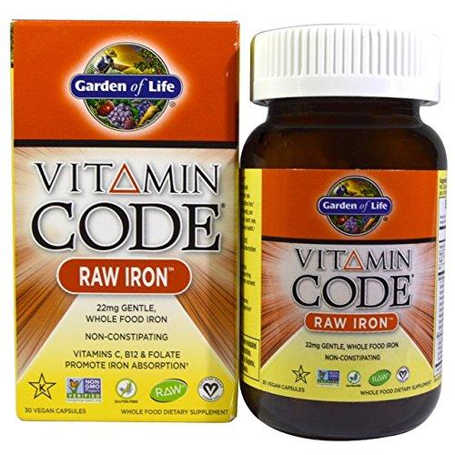 Garden of Life Vitamin Code Raw Iron, VarietySet 120 Capsules Total
