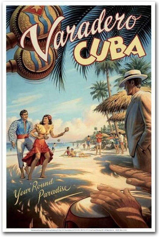 """Varadero Cuba Art Refrigerator Magnet Size 2.5"""" x 3.7"""""""