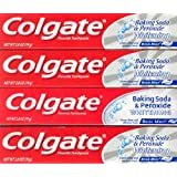 Colgate Toothpaste Whitening with Peroxide and Baking Soda Oxygen Bubbles Brisk Mint - 2.8 oz, 4 Pack