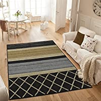 Ottomanson Studio Collection MultiLayered Design Area Rug, 33 X 50, Grey