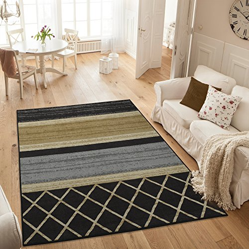 Ottomanson Studio Collection MultiLayered Design Area Rug, 3'3