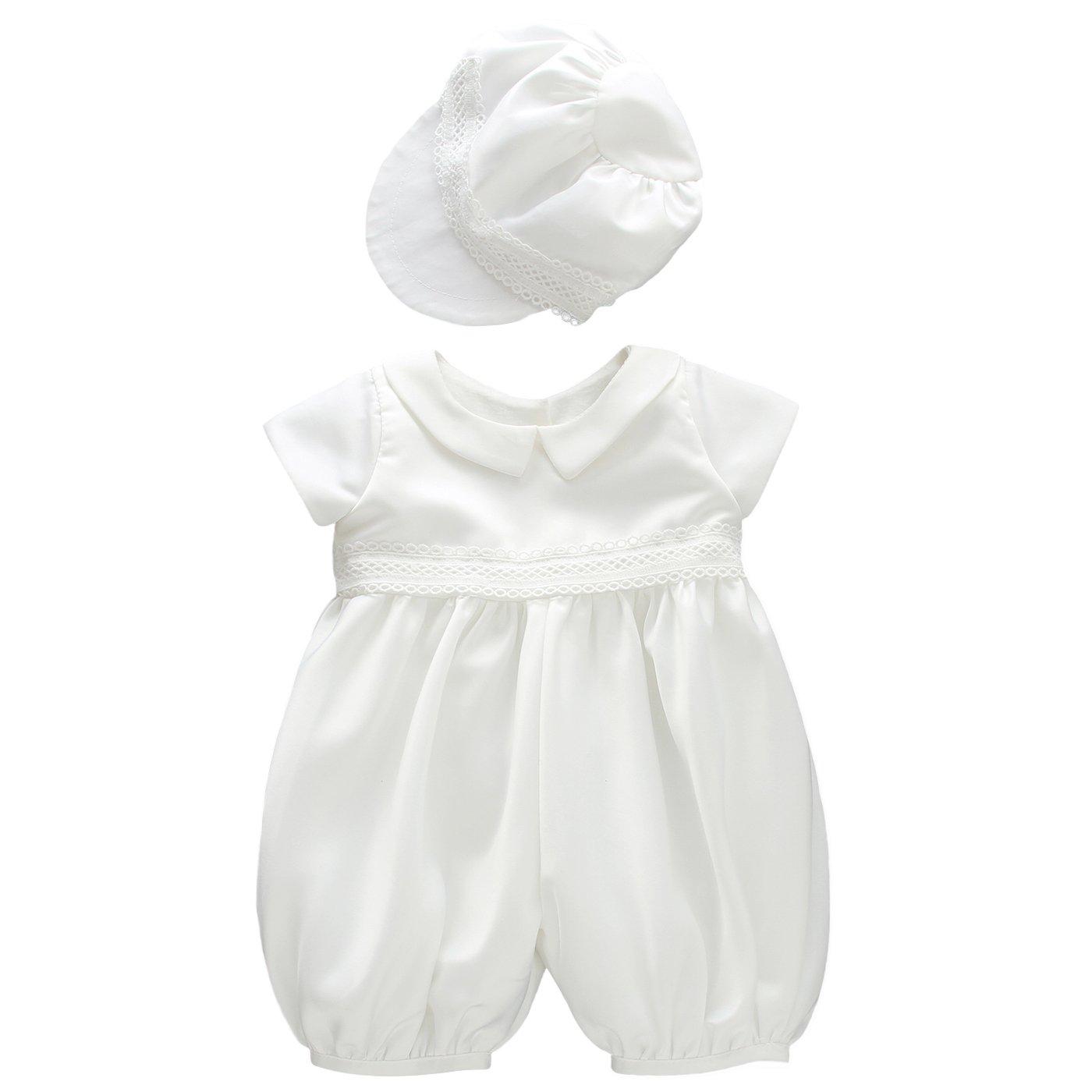 Glamulice Infant Baby Boy Christening Baptism Outfit Christening Romper Baptism Clothes