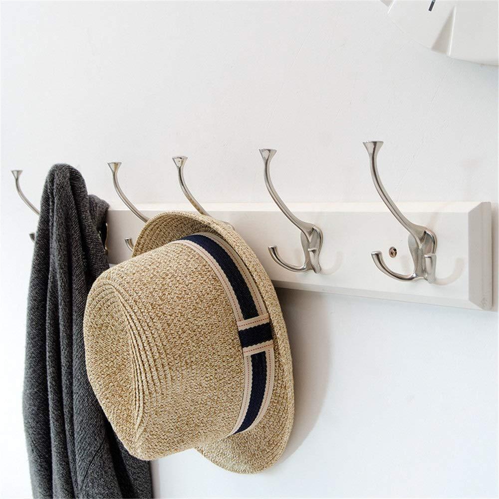 洗濯 ハンガー 物干し 多機能ハンガー ホックの寝室の壁の服の棚の壁の掛かるホックの後ろの簡単なドア ズボンハンガー スカートハンガー クリップ ハンガ (色 : 白) B07S1WRRSB 白