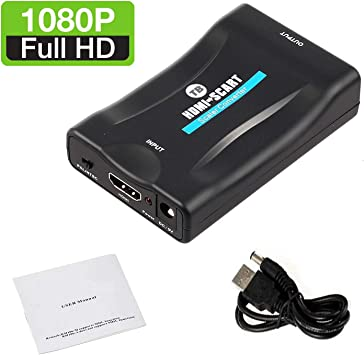 HDMI to SCART Converter Adapter 1080P HDMI to SCART Adaptor HDMI Input SCART Output Adaptor For SKY Blu-Ray Player HDTV Xbox DVD laptop, tablet, Netflix by TB: Amazon.es: Electrónica