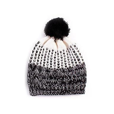 Jojoshine Knit Winter Hat for Girl Infant Hat Pom Pom Hats for women ... dd04abc69