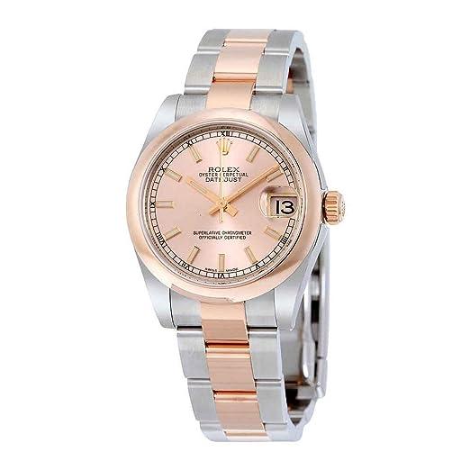 Rolex 178241PKSO - Reloj automático para mujer con esfera rosa Datejust 31 de 18 quilates: Amazon.es: Relojes