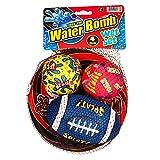 Toss'Em Water Bomb Wet Set 4 Pcs. - Nerf Frisbee, Football, 2 Baseballs