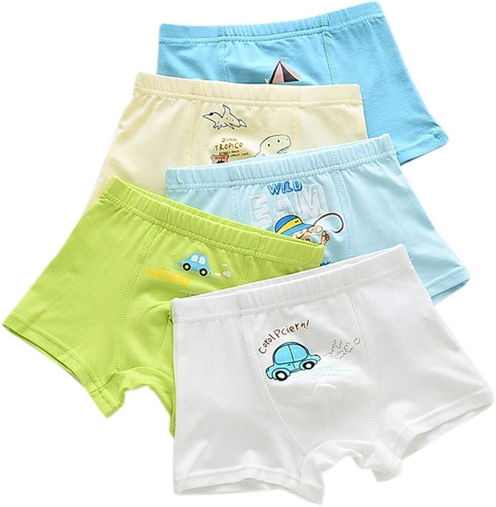 URVIP Boys Breathable Boxer Brief Underwear