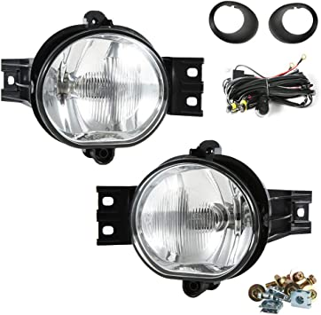 For 2002-2008 Dodge Ram Clear Lens Chrome Housing Replacement Fog Lights Lamps