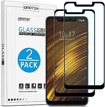 OMOTON Xiaomi Pocophone F1 Protector Pantalla Pocophone F1 Cristal Templado Xiaomi Pocophone F1, Cobertura Máxima, Anti-Burbujas, Anti-arañazos [2 Piezas]: Amazon.es: Electrónica