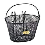 Nantucket Bike Basket Co Kid's Surfside Mesh Wire Basket, Charcoal Grey
