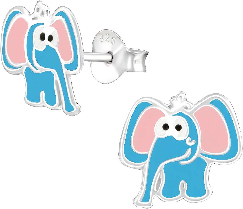 The Rose /& Silver Company RS0884 plata de ley 925 dise/ño de elefante Pendientes de tuerca para mujer