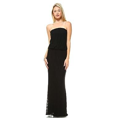 Strapless Maxi Tube Dress