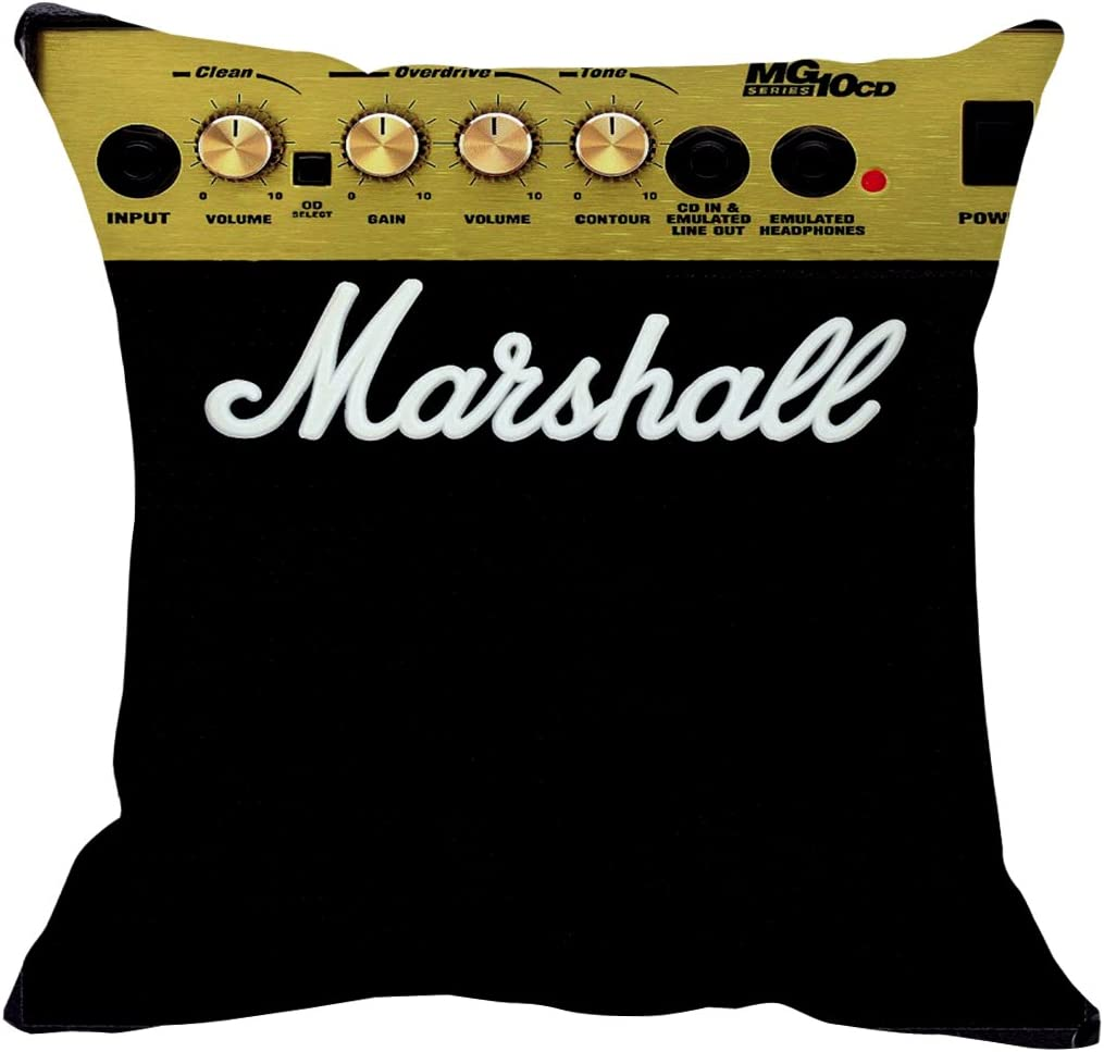 Amplifier Marshall Pillow Case Size 20x20 Inch Amazon Ca Home Kitchen