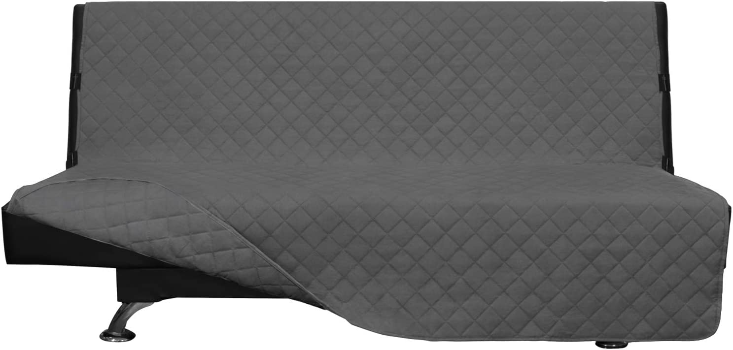Easy-Going Futon Slipcover Reversible Sofa Water Resistant Cover Couch Cover Furniture Protector for Pets Kids Children Dog Cat (Futon, Gray/Gray)