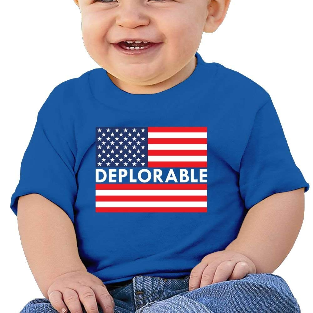 Tee Deplorable American Flag Birthday Day 6-24 Months Baby Boy Toddler