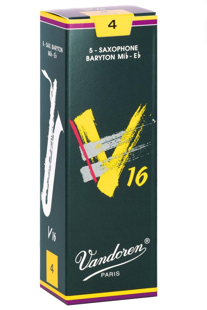 Vandoren SR744 Baritone Sax V16 Strength 4, Box of 5 Reeds
