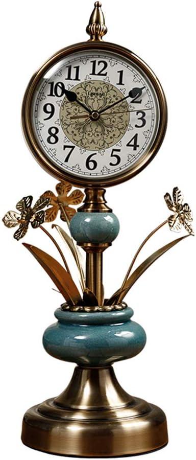 Fonly Reloj de Mesa Alto Vintage Centro de Flores de cerámica ...